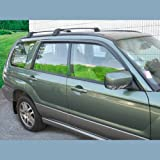 C&C Car Worx Side Window Vent Deflectors for 2000 01 02 03 04 05 06 07 08 Subaru Forester