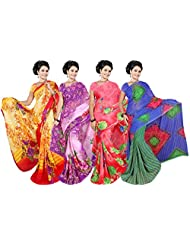 Printed Sarees With Blouse Piece Exclusive Combo Offer Combo-62