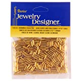 1/4 In. Silver Lined Glass Bugle Beads, Gold, 20 Gram/Pkg