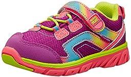 Stride Rite Made 2 Play Baby Myra Sneaker (Toddler),Pink/Lime,7 M US Toddler