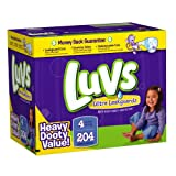 Luvs Ultra Leakguards Diapers, Size 4, 204-Count