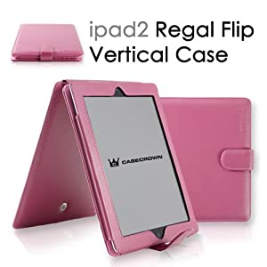CaseCrown Regal Horizontal Case for iPad 2 - Hot Pink