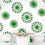 DeStudio Floral Tile Chalkboard Wall Decal, Size X Large & Color : GREEN