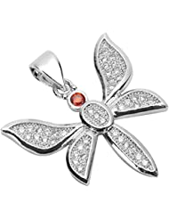 2 High Quality Silver Dragonfly Charms/Pendants With Cubic Zirconia Pave (Satisfaction Guaranteed) MCAC08