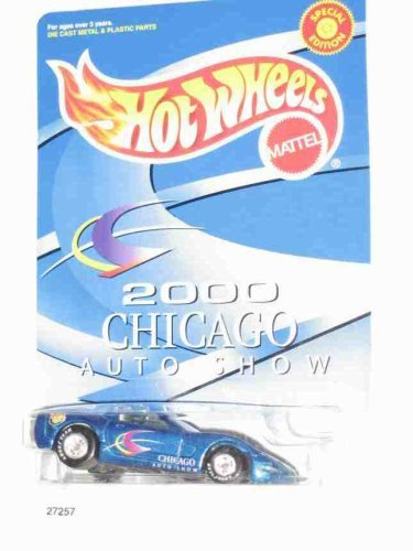 2000 Chicago Auto Show Corvette Blue Real Rider Tires Collectible Collector Car Hot Wheels by Hot Wheels
