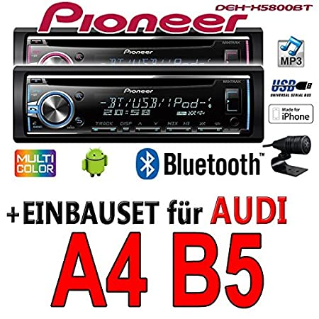 Audi A4 B5 - Pioneer DEH-X5800BT - CD/MP3/USB Bluetooth Autoradio - Einbauset