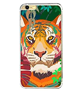 Lion 2D Hard Polycarbonate Designer Back Case Cover for Apple iPhone 6 Plus :: Apple iPhone 6+