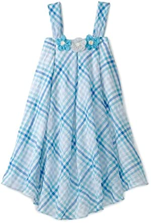 Blue Pearl Girls 7-16 Jackie Halter Dress With Belt, Blue, 7/8