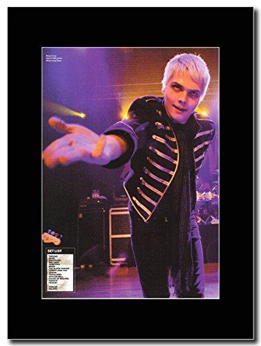 My Chemical Romance-Gerard Way-Milan Magazine Promo su un supporto, colore: nero