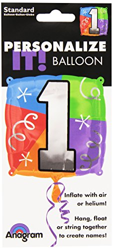 "Anagram International Number 1 Quad Foil Package Balloon, 18"", NA - 1"
