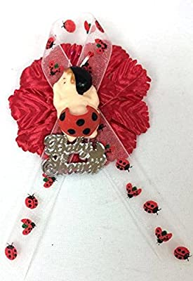 Girl Baby Shower Ladybug Corsage Mom to Be Baby Favor Decoration Party Supplies