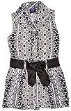 UNIKID Girls' Cotton Jumpsuit (09-S-GJS-02, Black, 5-6 Y)