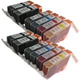 12 CiberDirect Compatible Ink Cartridges for use with Canon Pixma MP630 Printers.