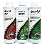 Seachem Aquarium Water Treatment Pack - Flourish, Flourish Excel, & Flourish Iron (250ml Each)