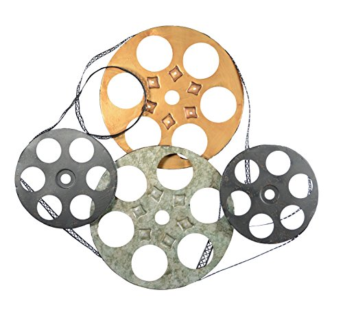 Film Reel Metal Wall Decor Art Sculpture 25 inches Wide x 22 inches High (Vintage Film Reel compare prices)