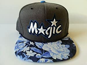 Mitchell and Ness NBA Orlando Magic Custom Snapback Cap, Hat: Charcoal by Mitchell & Ness