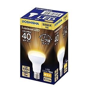 ルミナス LED電球 ミニレフ球タイプ 40W相当 電球色 446lm 口金E17 密閉器具対応