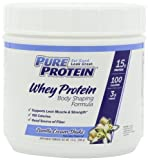Pure Protein Natural Whey Protein,  Vanilla Cream Shake, 14 Ounce