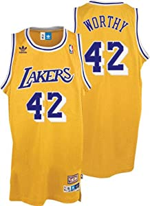 adidas Los Angeles Lakers James Worthy Soul Swingman Jersey by adidas