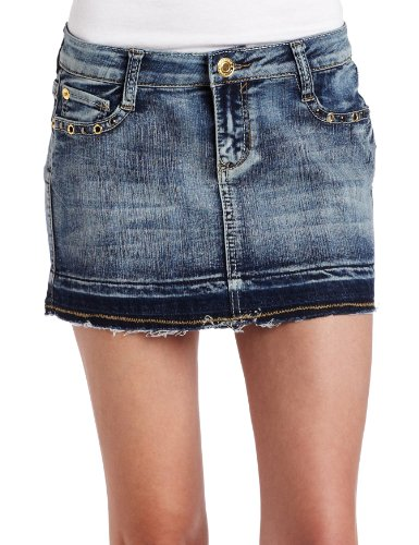 Southpole Juniors Denim Mini Skirt
