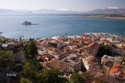 Wallmonkeys Peel and Stick Wall Graphic - BAY OF NAFPLION WITH ISLAND - 18