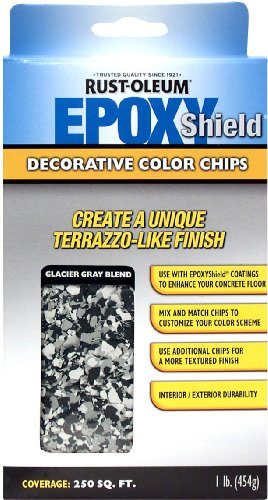 Rust-Oleum 238471 EPOXYShield Decorative Color Chips, Glacier Gray Blend