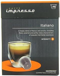 Caffe Impresso Italiano Nespresso Compatible Capsules (Pack of 4, Total 40 Capsules)