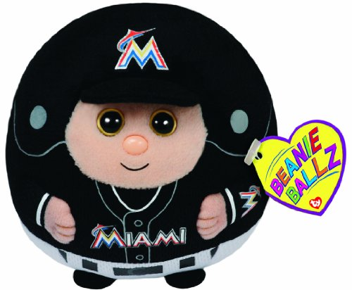 Ty Beanie Ballz MLB Miami Marlins Plush
