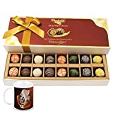 Chocholik Belgium Chocolates - 16pc Designer Box Of Truffles With Diwali Special Coffee Mug - Diwali Gifts