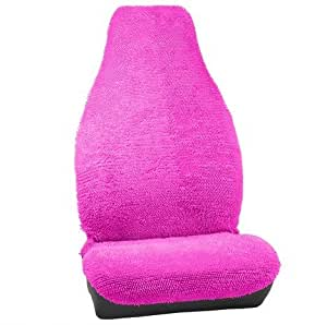 Fuzzy Shaggy Hot Pink Seat Cover