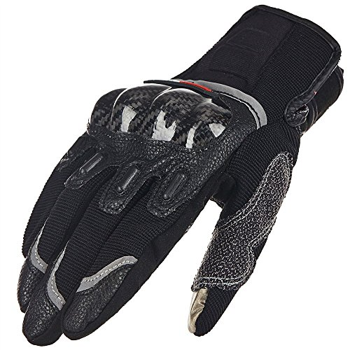 ILM Carbon Fiber Air Motorcycle Gloves Touchscreen Full Finger Outdoor Summer Gloves (L, BLACK) (Motorcycle Carbon Fiber Mask compare prices)