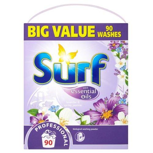 Surf Professional Biological Washing Powder Lavender & Spring Jasmine 90 Washes 7.2kg