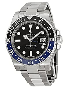 Rolex GMT Master II Black Dial Stainless Steel Mens Watch 116710BLNR from Rolex