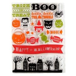 Martha Stewart Crafts Clear Stamp Set Halloween Friends By The Package