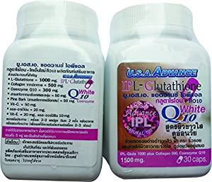 IPL L-GLUTATHIONE 1500MG FOR SKIN WHITENING Capsules/Pills ( 60 pills )