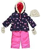 Carter's Infant Girls Navy & Pink Heart Print 2pc Snow Suit (12M)