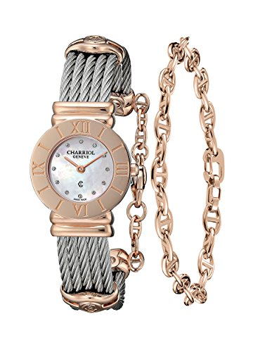 charriol-womens-st-tropez-pink-mother-of-pearl-dial-steel-watch-028rp540462