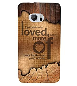 Wish To Be Love 3D Hard Polycarbonate Designer Back Case Cover for HTC One M10 :: HTC M10