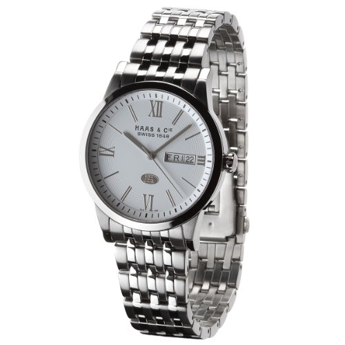 Haas  &  Cie Linus Men's Silver Watch ALH396SWA