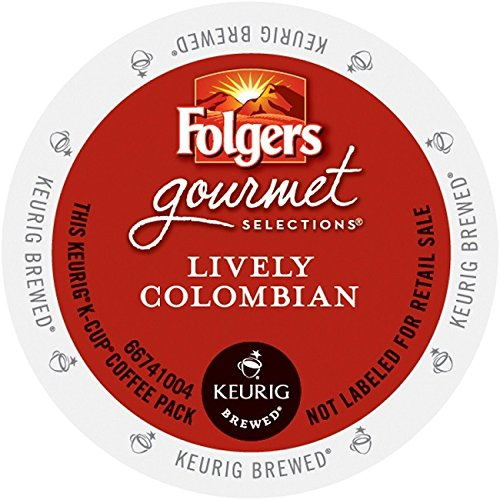 Folgers Gourmet Selections K-Cup Single Cup for Keurig Brewers, Lively Colombian, 24 Count (Colombian K Cups compare prices)