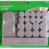Laminate / Wooden Floor Furniture Protection Pads Pack of 27 (various shapes)