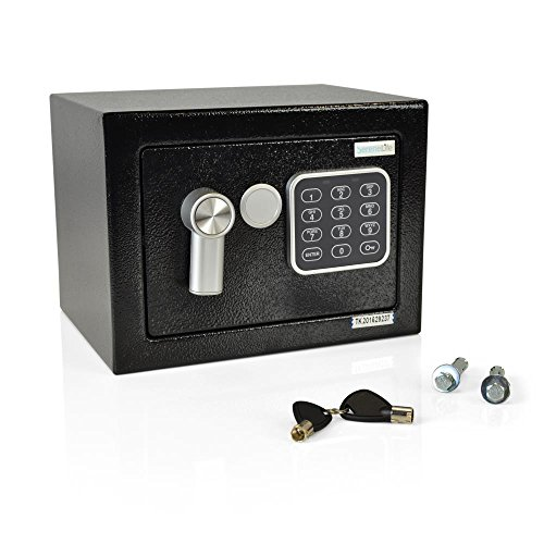 serenelife-safe-box-security-for-firearms-documents-jewelry-includes-keys-compact-91-x-67-x-67-inche
