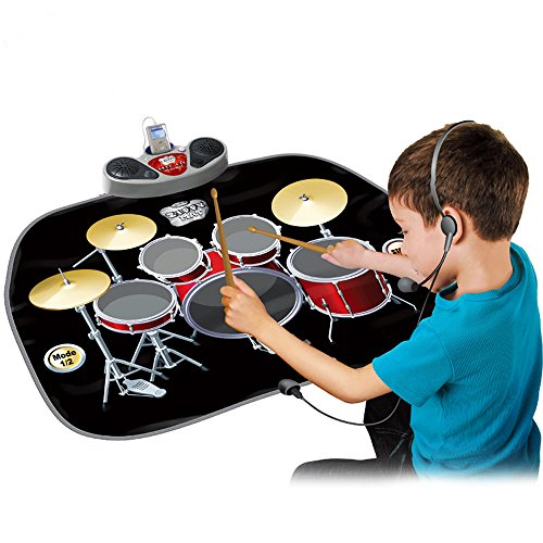 wishtime-electric-musical-playmat-toy-instrument-drum-kit-set-includes-headphones-with-micdrum-stick