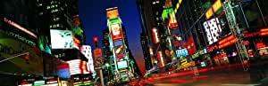 Panoramic Wall Decals - New York City Downtown Street Scene 2 (4 foot wide Removable Graphic)