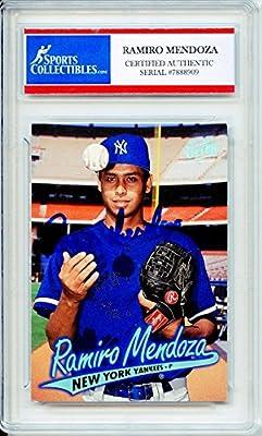 Ramiro Mendoza Autographed New York Yankees Encapsulated Trading Card