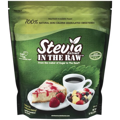 STEVIA Extract in the Raw - 100% natural zero Calorie Granulated Sweetener - in resealable bag - 9.7oz (275g)
