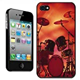 Fancy A Snuggle Rocking Rock Band Drum Set with Cymbals Clip On Back Cover Hard Case for Apple iPhone 44S