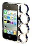 Silver Case for Apple iPhone 4/4S Plastic Knuckle Duster Style Bumper