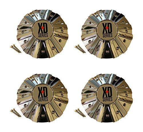 4 x KMC XD Series 778 Monster Chrome Wheel Rim Center Cap 846L215 (Xd Chrome Center Caps compare prices)
