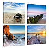 Canvas Print, Stretched and Framed, 4 Panels Canvas Print The Extensive Modern Canvas Wall Art and Home Decoration, Free Shipping,12x12inchx4pcs, P4R1x1-6